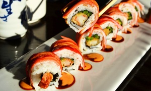 Rock Wrap & Roll: Sushi and Japanese and Thai Food for Two or Four at Rock Wrap & Roll (Up to 45% Off)