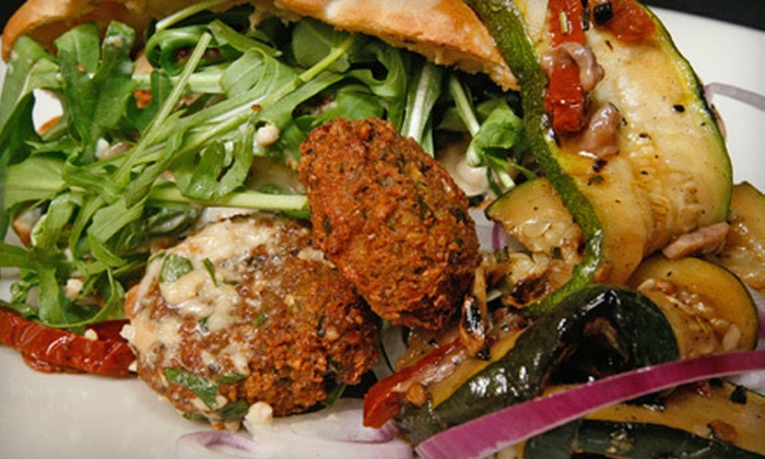 Jerusalem Restaurant - Great Falls Chase: Mediterranean Meal with Appetizers, Desserts, and Soft Drinks for Two or Four at Jerusalem Restaurant (Up to 51% Off)