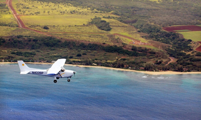 Barbers Point Flight School - Kapolei: 30- or 75-Minute Plane Tour of Oahu for Three People at Barbers Point Flight School (Up to Half Off)