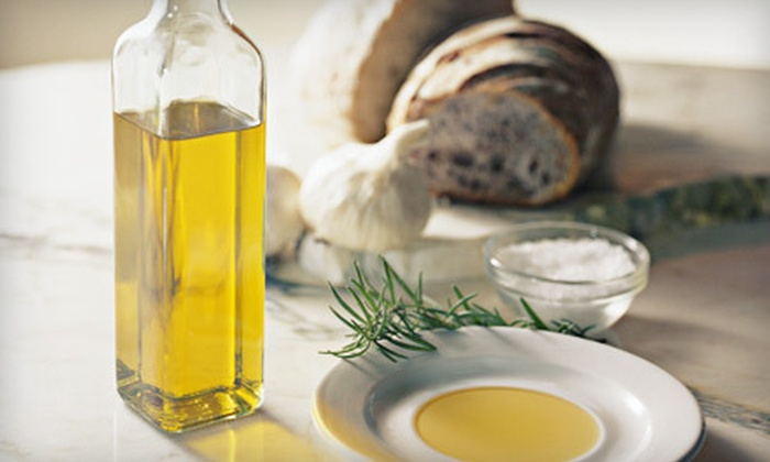 Pure Mountain Olive Oil - Multiple Locations: Gourmet Gift Basket or $10 for $20 Worth of Olive Oils and Balsamic Vinegars at Pure Mountain Olive Oil
