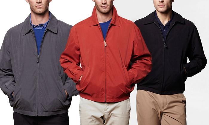 London Fog Men's Microfiber Golf Jacket: London Fog Men's Microfiber Golf Jacket