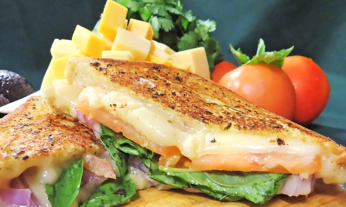 Grilled Chz - Fresno: $18 for Three Groupons, Each Good for $10 Worth of Sandwiches and Drinks at Grilled Chz ($30 Value)