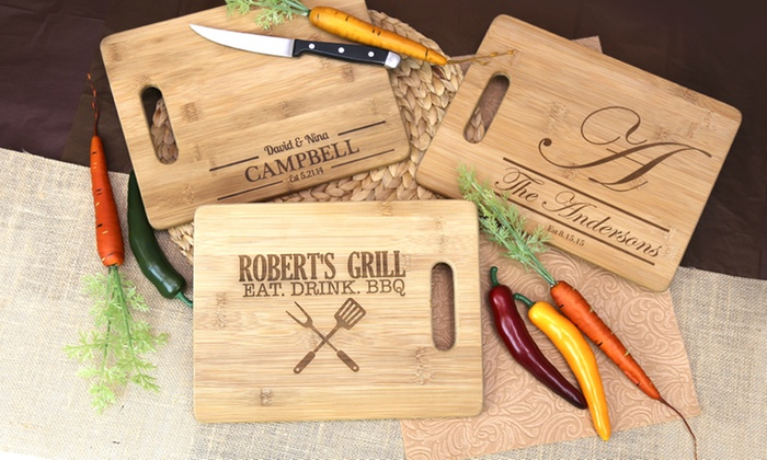 Monogram Online: $24.99 for a Personalized Bamboo Cutting Board from Monogram Online ($59.99 Value)