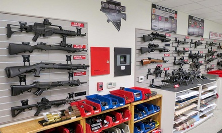 $111 for The Gun Store Range Package with Instruction and Shooting of Three Firearms ($159.95 Value)