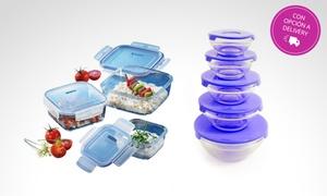 Set Bowls de Vidrio con Tapa