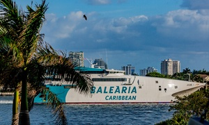 51% Off One-Day, Roundtrip Cruise Ferry to Grand Bahama Island at Balearia Caribbean, plus 9.0% Cash Back from Ebates.