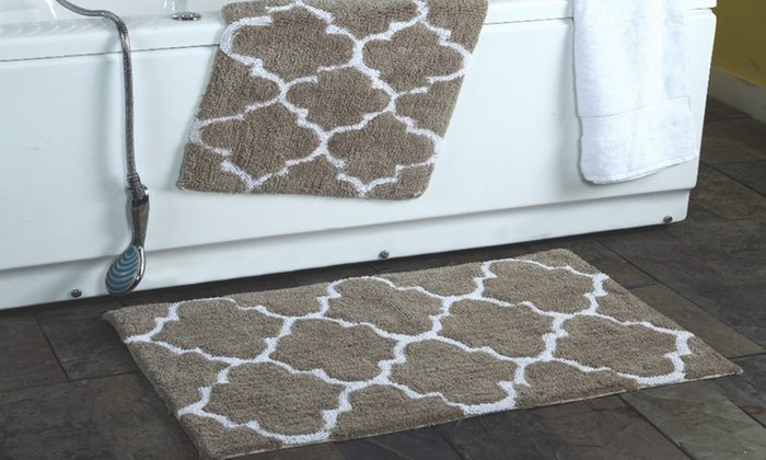 Elegant  BathroomRug Set 3Piece Clearance Shaggy Daddy BathroomRug Set