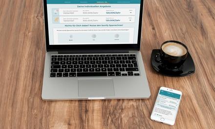 Kostenloses bonify Sparradar zum Erkennen von Sparmöglichkeiten bei Versicherungen, Strom  oder Gasverträgen