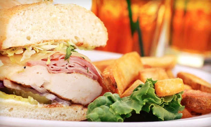 150 Café & Lounge - Downtown,Bricktown,City Centre West: 10-Person Catering Package or $10 for $20 Worth of American Fare and Drinks from 150 Café & Lounge