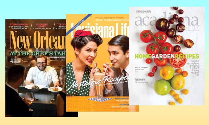 "New Orleans Magazine - New Orleans: Subscriptions to ""New Orleans Magazine"" and Other Area Lifestyle Magazines (Up to 55% Off). Three Options."