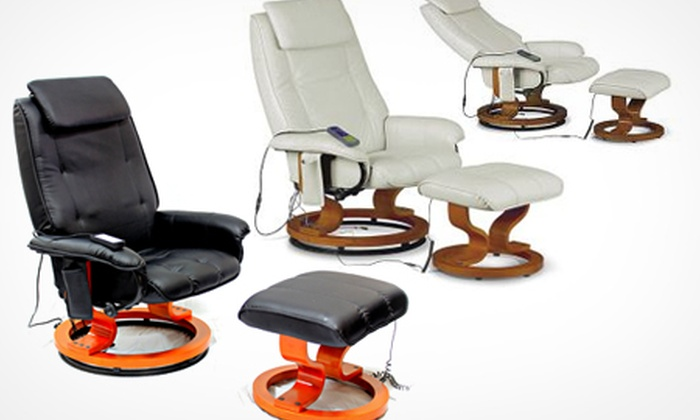 Groupon Goods Global GmbH: Aston Reclining Chair and Footstool With Massage Function for £159 (45% Off)