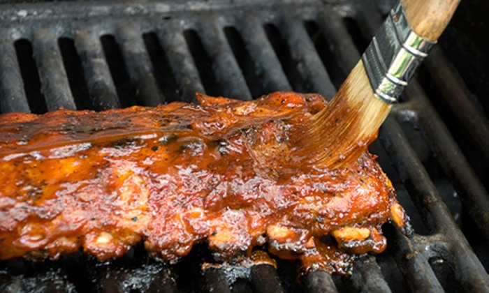 River Smokin - Near Highlandville and Nixa: Barbecue and Seafood at River Smokin (Half Off). Two Options Available.