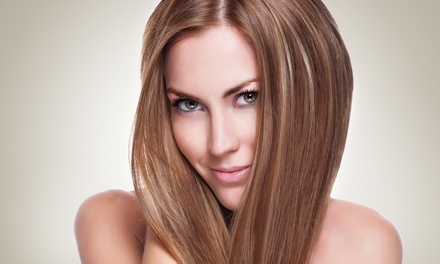 Haircut with Option of Partial Highlights at Hair by Hilda at The Oasis Salon Suites & Spa (Up to 54% Off)