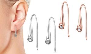 Boucles d'oreilles argent Philip Jones ornées de cristaux Swarovski®