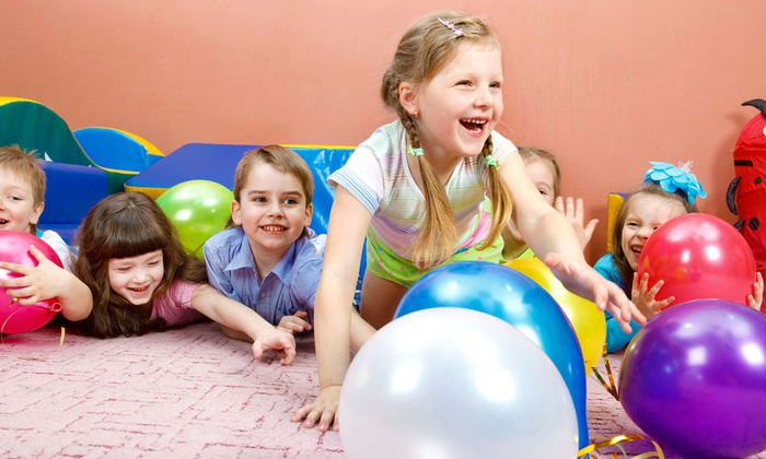 Bounceeez - Virginia Beach: Four Bounce-Session Visits with Pizza or Birthday Party for Up to 24 Kids at Bounceeez (Up to 66% Off)