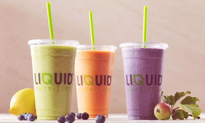 Liquid Nutrition - Oakville: C$5 for C$10 Worth of Fresh Smoothies at Liquid Nutrition