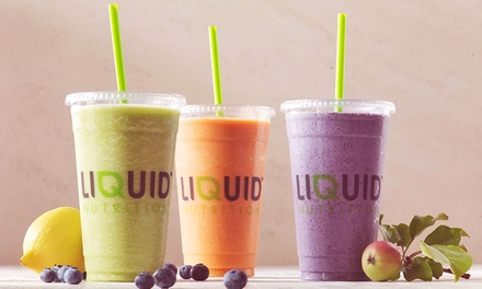 $5 for $10 Worth of Fresh Smoothies at Liquid Nutrition