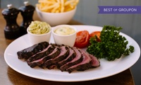 Chateaubriand Steak with Unlimited Fries, a Side and a Glass of Wine for Two or Four at Rowleys, St Jamess  (46% Off)