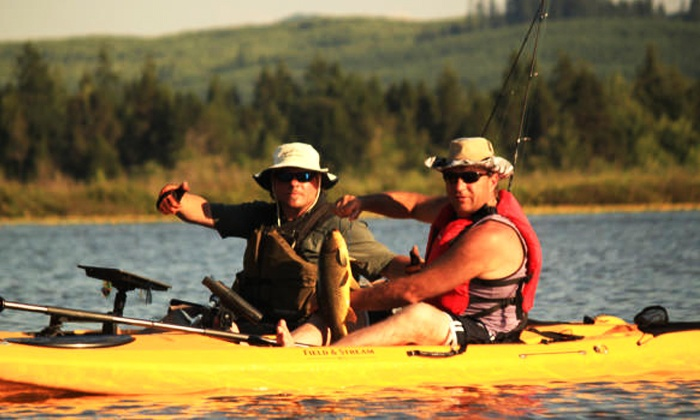 Sasquatch Adventures - Columbia Heights East: 2.5-Hour Kayak Fishing Trip for One, Two, or Four from Sasquatch Adventures (Up to 45% Off)