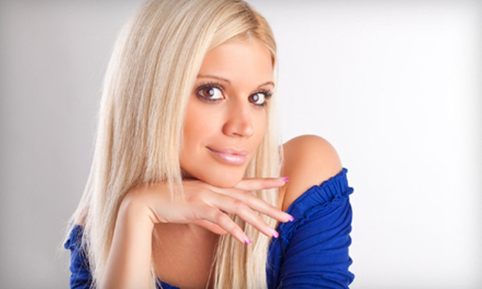 [NV] Salon - Gahanna: Women's Haircut with Option of Color or Partial or Full Highlights at [NV] Salon in Gahanna (Up to 70% Off)