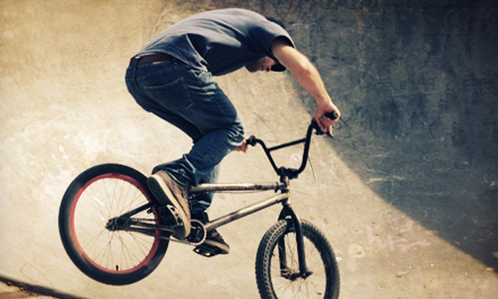 The Lumberyard and Pub @ the Yard - Madison South: Bike-Park Pass with Optional Equipment, Party for Five, or a Pizza at The Lumberyard and Pub @ the Yard (Up to 67% Off)