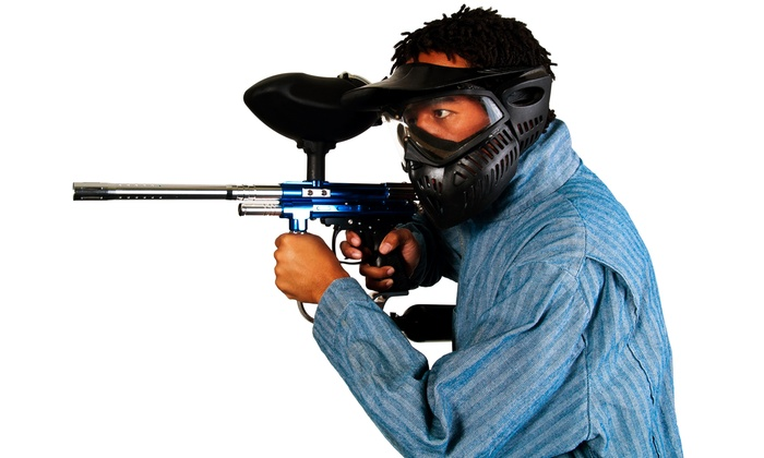 NVP Paintball - Van Buren: Paintball Package with Equipment, Unlimited Air Fills, and Paintballs for 2 or 4 at NVP Paintball (48% Off)