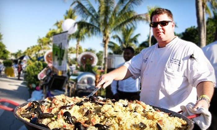 Deerfield Beach Wine & Food Festival - Quiet Waters Park: $27 for Visit to the Vineyard Party at Deerfield Beach Wine & Food Festival on April 26 ($55 Value)