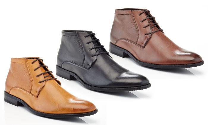 4c05930b000 Franco Vanucci Men's Lace-Up Ankle Dress Boots | Groupon
