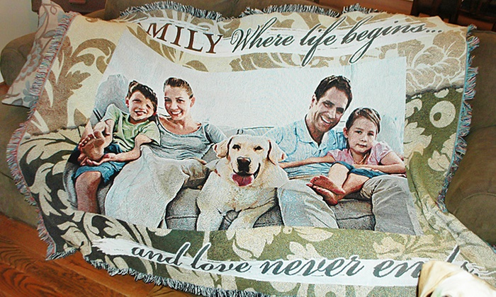 PhotoWeavers: Custom Woven Photo Blankets from Photoweavers (Up to 58% Off)