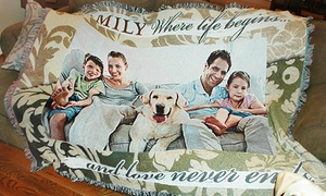 Up to 61% Off Custom Woven Photo Blankets at PhotoWeavers, plus 6.0% Cash Back from Ebates.