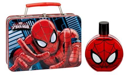 Spiderman Eau de Toilette and Metal Lunch Box for Kids; 3.4 Fl. Oz.