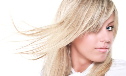 Haircut, Highlights, and Style from Jamie at BJ's Hair Studio (60% Off)