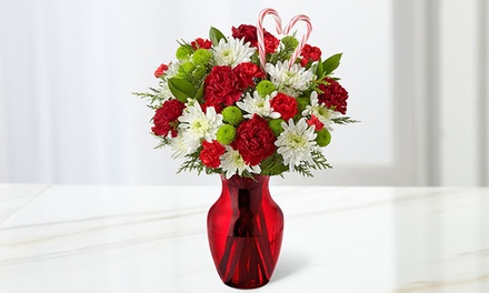 $40 for a Heart of the Holidays Mixed Bouquet with Vase from FTD.com ($66.98 Value). Shipping Included.