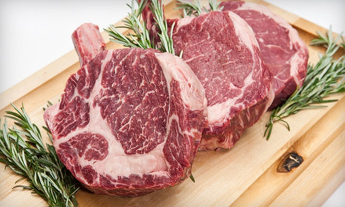 Lux Steakhouse + Bar - Downtown: $25 for $50 Worth of Upscale Steakhouse Fare and Drinks at Lux Steakhouse + Bar