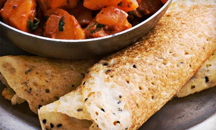 Masala Kraft Cafe - Hartsdale: $15 for Three Groupons, Each Good for $10 Worth of Vegetarian Indian Food at Masala Kraft Cafe ($30 Total Value)