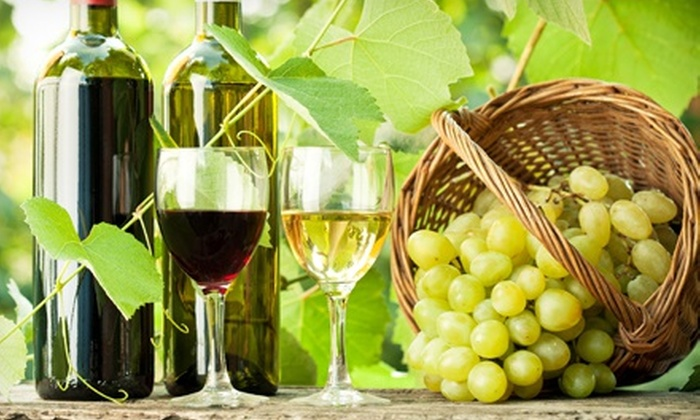 Chateau de Pique Winery - Multiple Locations: Wine-Tasting Package for Two or Four with Cheese Plate and Wine Bottle Credit at Chateau de Pique Winery (Up to 56% Off)