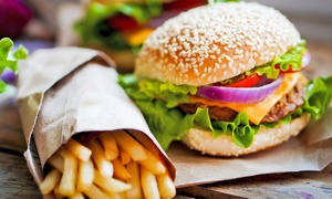 Blais cafe/bistro: Burger with Chips and Soft Drink for One, Two or Four at Blais Cafe Bistro (Up to 50% Off)
