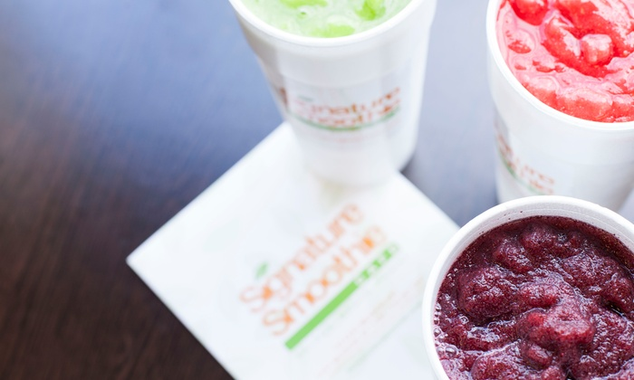 Signature Smoothie Cafe - East Meadow: $6 for $10 Worth of Smoothies — Signature Smoothie Cafe