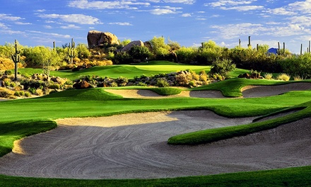 Round of Golf with Cart Rental and Unlimited Range Balls for 2 or 4 at Troon North Golf Club (Up to 48% Off)
