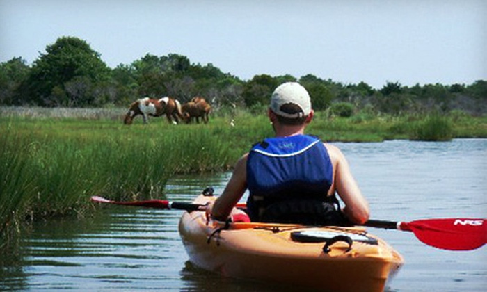 SuperFun Eco Tours - 3, Sinepuxent: Assateague Island Kayak Tours for Children and Adults from SuperFun Eco Tours (Up to 55% Off). Four Options Available.