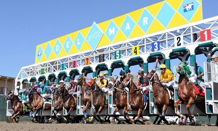 Del Mar Thoroughbred Club - Del Mar Thoroughbred Club (DMTC Racetrack): Two Tickets for Horseraces Between July 18 and September 3 at Del Mar Thoroughbred Club (Half Off)
