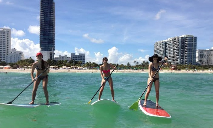 Hirooka Surf and Sport - Star, Palm and Hibiscus Islands: Sunset Paddle Tour, Standup Paddleboard Lesson, or Paddleboard Rental at Hirooka Surf and Sport (Up to 60% Off)