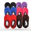 Girls' Plush Slipper Socks with Non-Skid Bottoms (12-Pack)