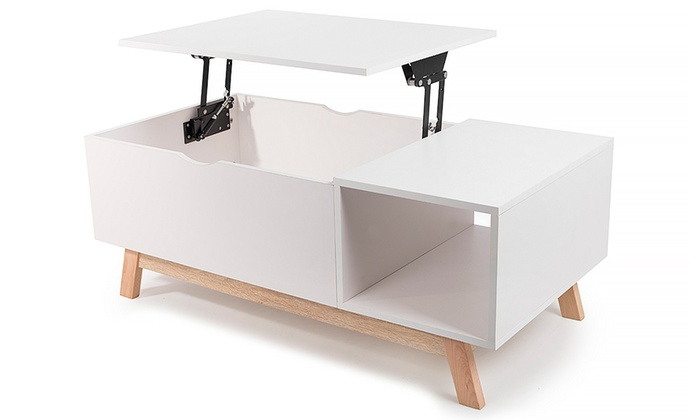 table basse avec ascenseur groupon. Black Bedroom Furniture Sets. Home Design Ideas