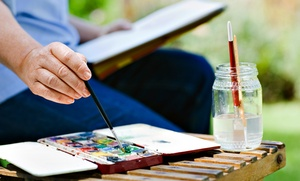 Art & Photography School of Colleen Cassidy: Watercolor Painting Class with Wine and Cheese at Art & Photography School of Colleen Cassidy (Up to 53% Off)