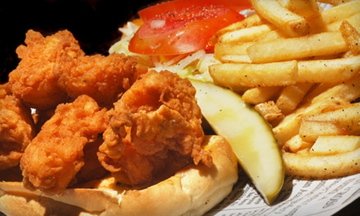 The Angry Shrimp - W Los Angeles: Two Po' Boys and Drinks for Two or $15 for $30 Worth of Po' Boys, Sides, and Drinks at The Angry Shrimp (Up to 54% Off)