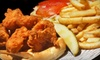 The Angry Shrimp: Two Po' Boys and Drinks for Two or $15 for $30 Worth of Po' Boys, Sides, and Drinks at The Angry Shrimp (Up to 54% Off)