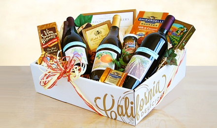 Cali Vines and Gourmet Selections Gift Basket (Shipping Included)