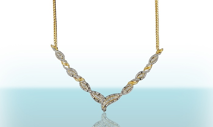 1/4-Carat Two-Tone Diamond Necklace: 1/4-Carat Two-Tone Diamond Necklace. Free Shipping and Returns.