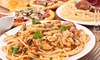 Goodfellaz - Multiple Locations: Medium Pizzas and Appetizers at Goodfellaz (Up to 53% Off). Two Options Available.